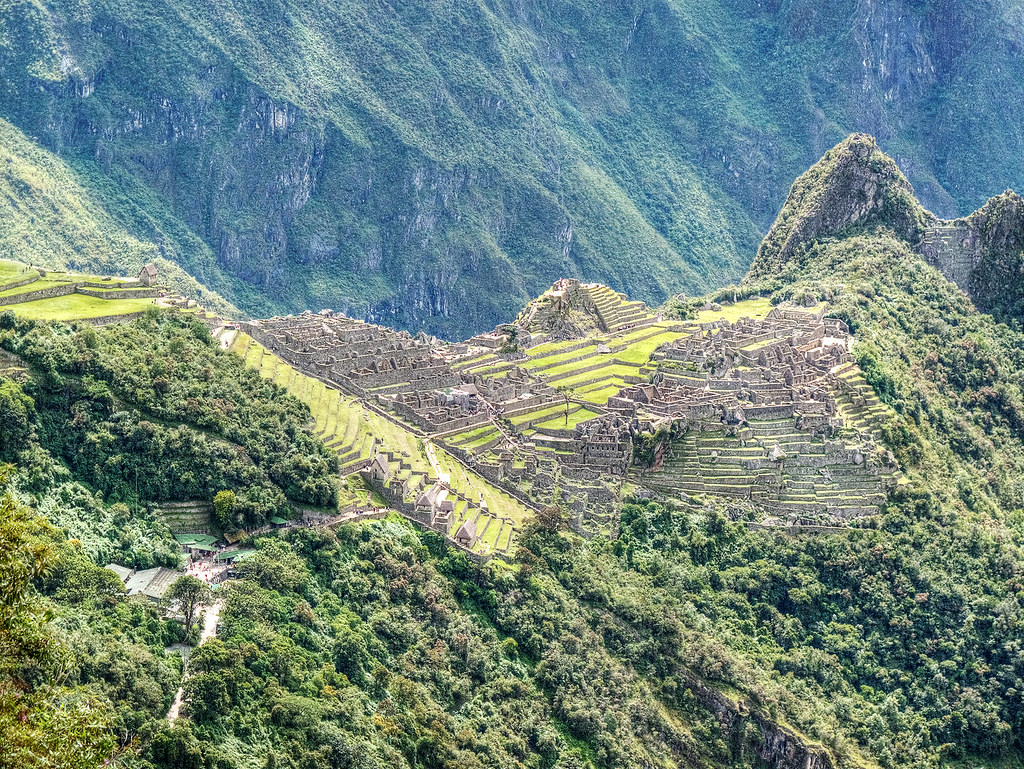 Machu Picchu from the path to the Sun Gate.