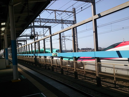昼間見かけた面白い新幹線