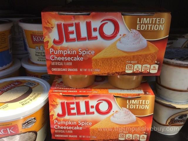 Jello Limited Edition Pumpkin Spice Cheesecake Cheesecake Snacks