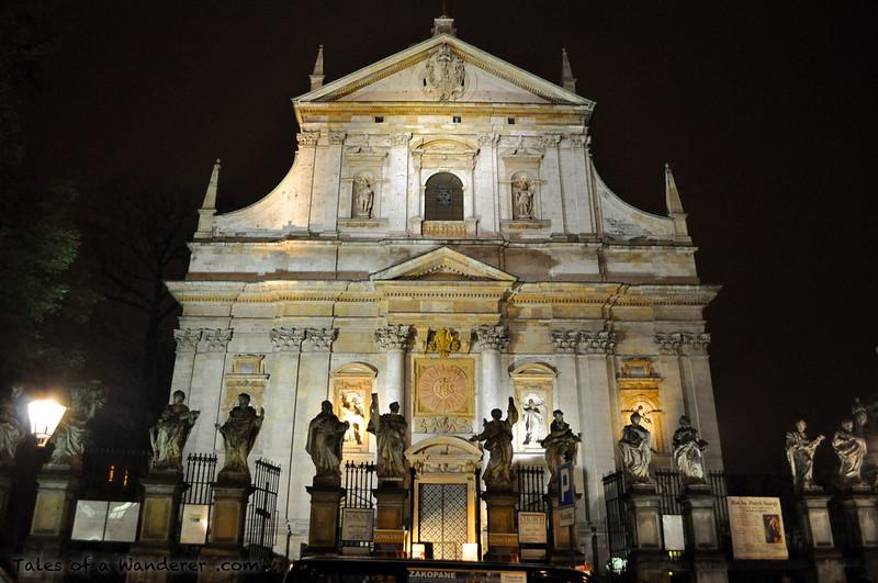 KRAKÓW - Plac św. Marii Magdaleny - Kościół Świętych Apostołów Piotra i Pawła