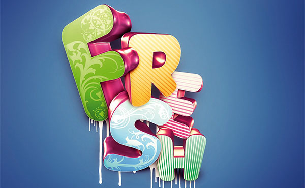Photoshop Tutorial: Master 3D Type Effects