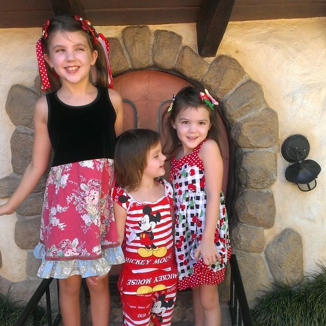 My little Mouseketeers... :-) #Disneyland #Homeschool  #mickeyshalloween
