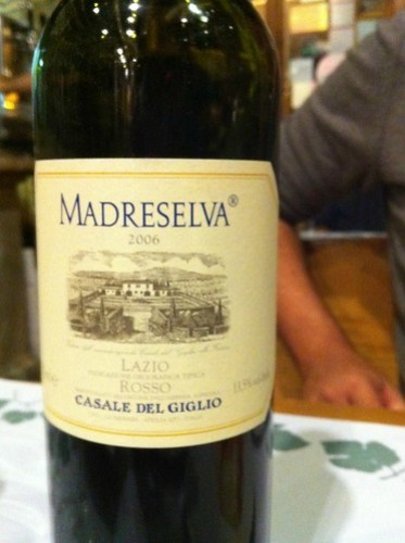 Madreselva Lazio Wine Cul de Sac Bar