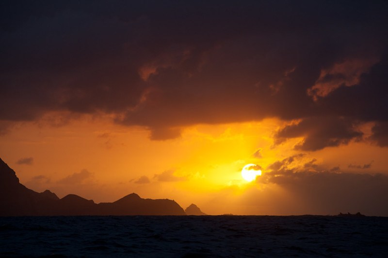Sunset on arrival to Porto Santo