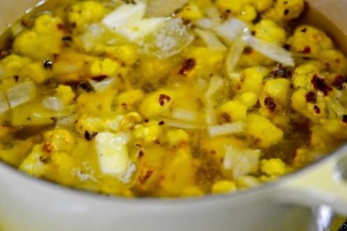 Roasted Cauliflower Soup-7