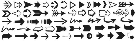 56 Arrow Symbols Icons