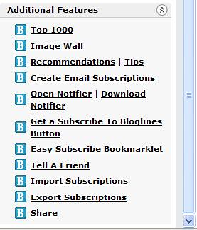 Google Reader - Bloglines-Export-Subscriptions