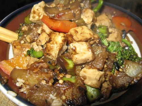 eggplant/tofu/broccoli/pepper