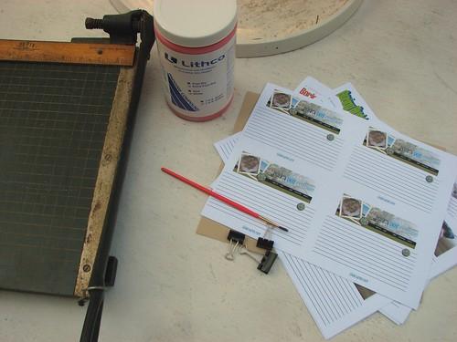 Notepad-making supplies