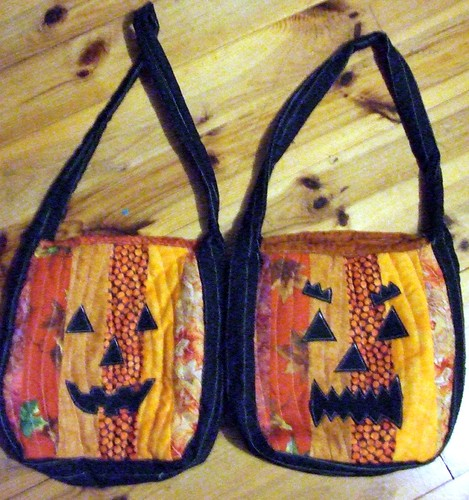 Patchwork Pumpkin Trick or Treat Bags