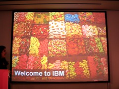 IBM - apparently, like a candy store