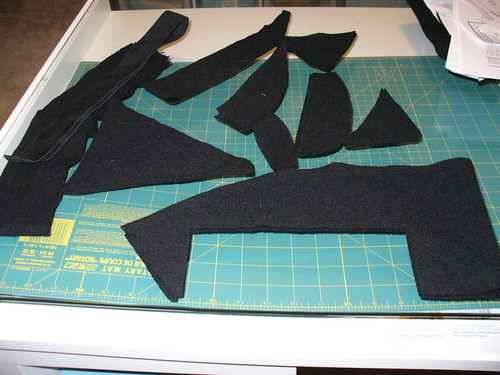 what's left of the skirt after cutting