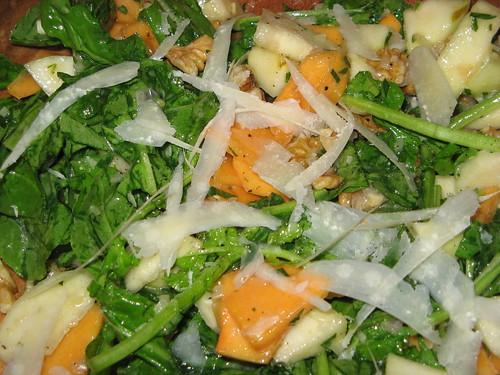 Persimmon, Pear & Arugula Salad