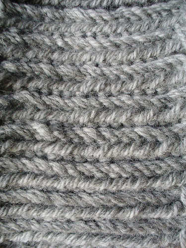 Double Stockinette, or Miniature Herringbone back