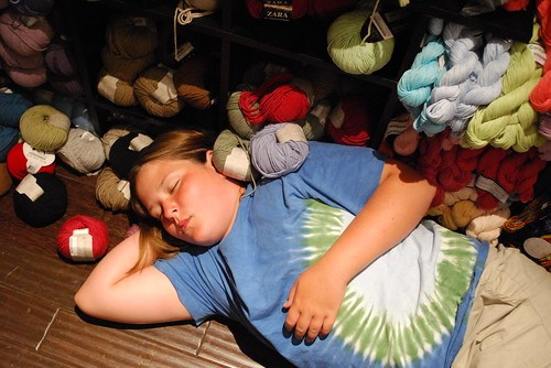 Knocked out by yarn fumes?