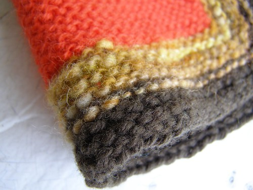 autumnal baby surprise jacket close-up
