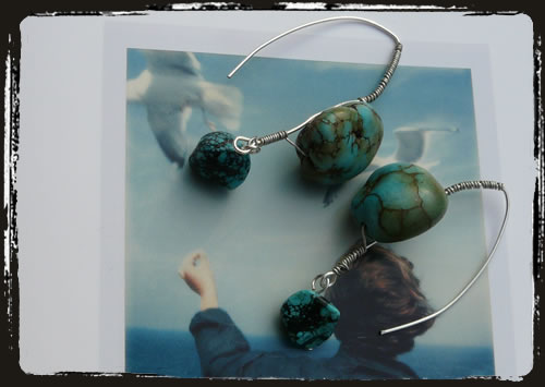 Orecchini turchese - Turquoise earrings MEHIPTW