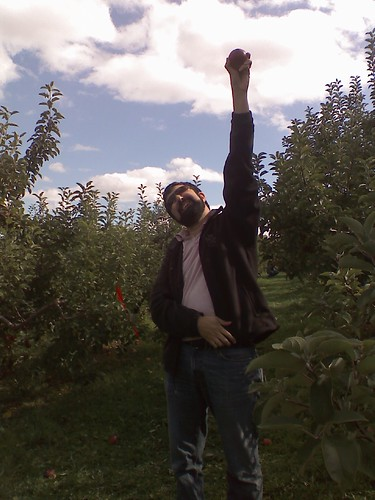 We won apple picking!