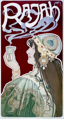 Privat-Livemont: Rajah, advertising poster, 1898 / trialsanderrors
