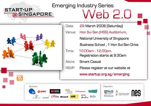 Startup@Singapore: Emerging Industry Series - Web 2.0