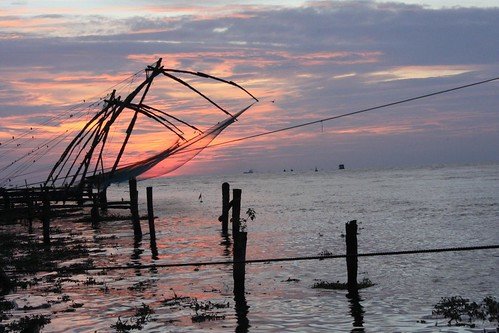 Sunset at the Chinese Nets