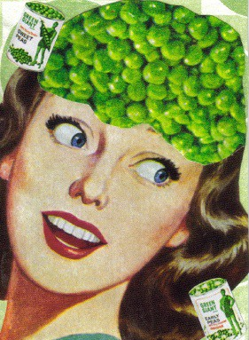 Pea Brain ACEO Collage
