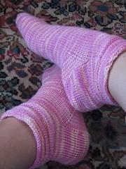 Melting Sherbet Socks; Lornas Laces Shepherd Sock, Sherbet