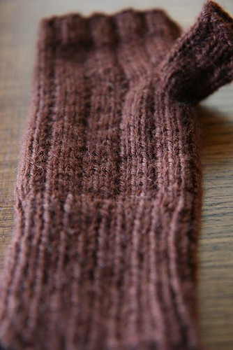 Knit thumb stitches by you.