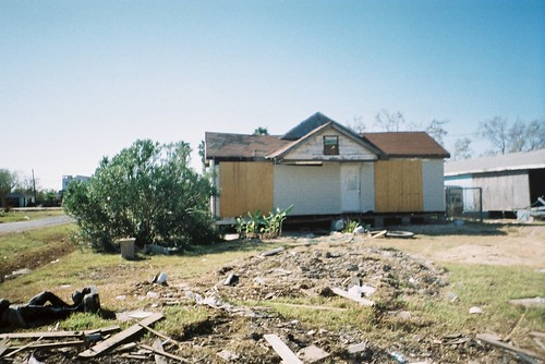 Hurricane Ike damaged home in San Leon, Galveston County, Texas