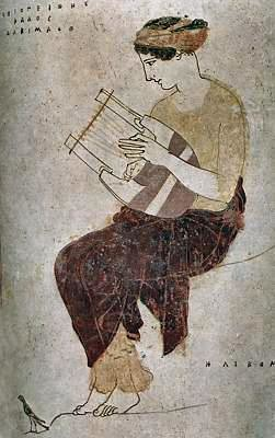A Muse on Mount Helikon, ca. 450-430BC, from a lekythos by the Achilles Painter