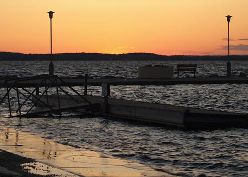 Lake Mendota - Sun Setting on Flooding