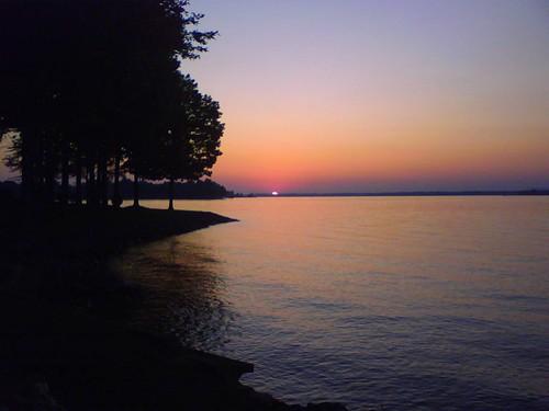 Sunset over Lake Norman, Davidson, N.C., 10/4/08