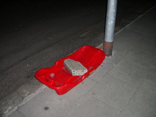 Trineo aparcado