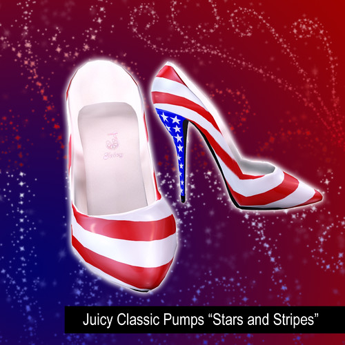 """Juicy Classic Pumps """"Stars and Stripes"""" by you."""