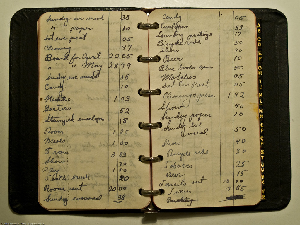 Grandfathers expense book 1933-34  ccLicense