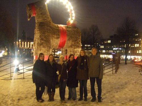 Me, Inca, Corinne, Liza, Ingrid, & Björn on our goat adventures~
