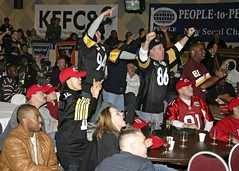 Garrison sports fans celebrate Super Bowl XLIII
