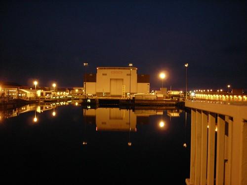 Shipyard by night