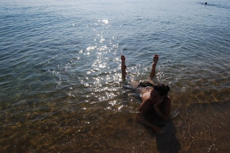 Vero en la playa de Nha Trang