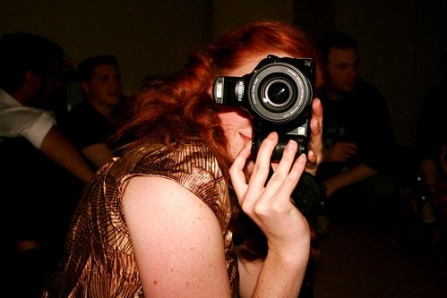 Kat taking a photo of me taking a photo of her taking a photo of me ....
