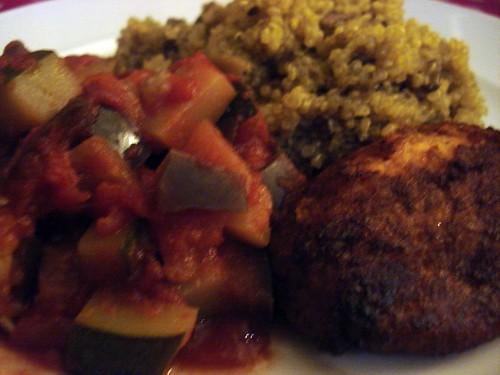 Mushroom quinoa pilaf