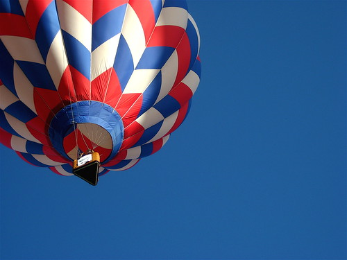 Red, white & blue balloon