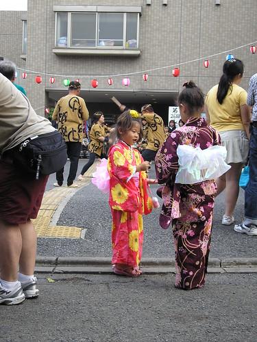 Pint sized Yukata wearers. And some Japanese dudes jacksie...