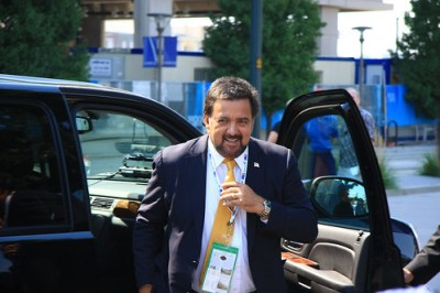 Gov. Bill Richardson at the Democratic Convention in Denver.