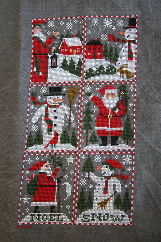 Santas and Snowmen Finished