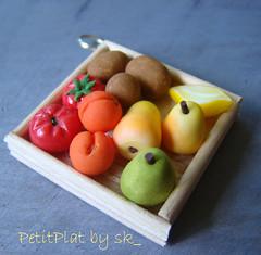 Pendentif Cageot Fruits et Legumes