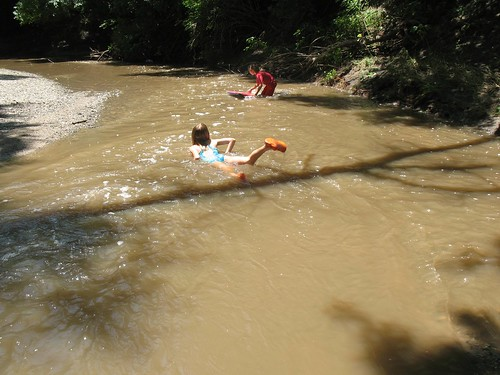 surfing the creek