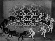 M. C. Escher. Encuentro. 1944.