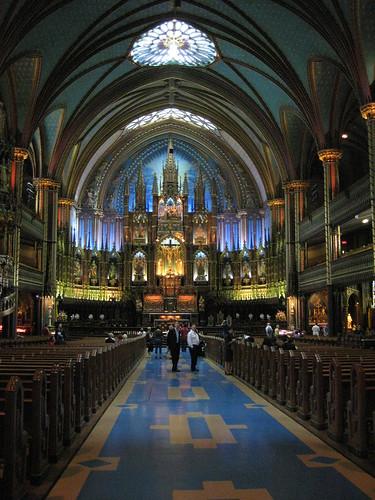 Interior of Montreal's Notre-Dame Basilica