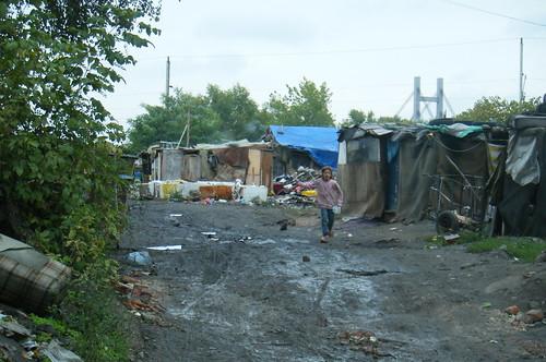 Main Street on the Gazelle Bridge Roma Settlement
